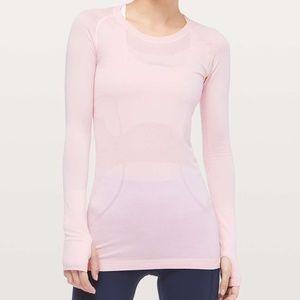 Lululemon Run Swiftly Long Sleeve Light Pink 4